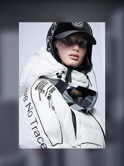 【米兰时装周走秀款】极寒系列女短款鹅绒羽绒服B90142910