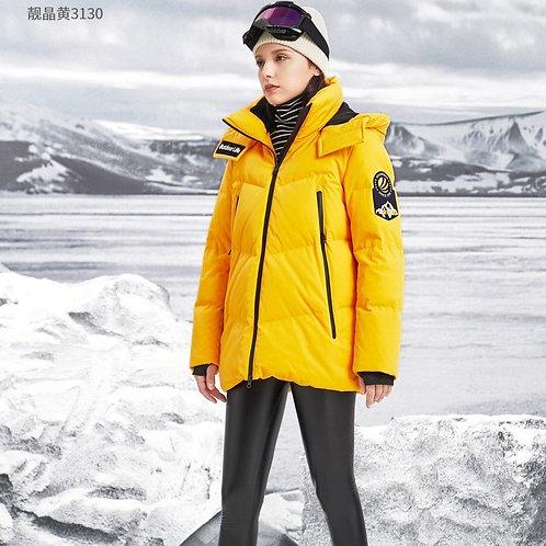 女短款羽绒服2019新品冬季可脱卸帽鹅绒加厚保暖B90142022