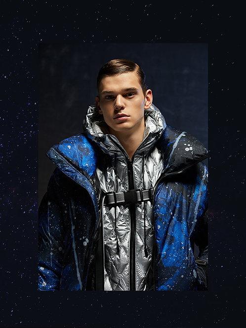 【米兰时装周走秀款】星空系列男羽绒服鹅B90142903绒潮流外套