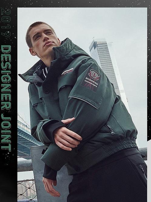 【设计师款】波司登男羽绒服鹅绒短款鹅绒冬装青年外套B90142061