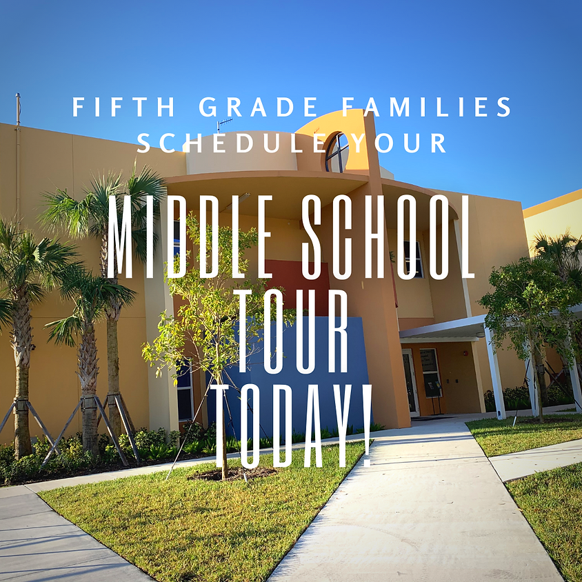 Middle School Tours for Current 5th Grade Students