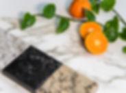 Granite, marble and quartz square color