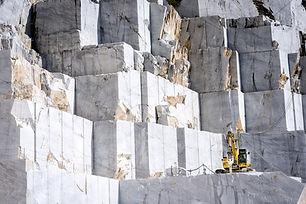 Marble quarry in marina di carrara italy