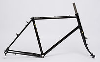 "Kibo Ahead expedition frameset with 1 1/8"" threadless steerer and sloping top tube"