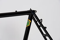Lugged frame with black powder coat finish