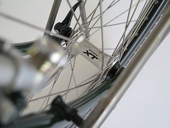 Rigida Sputnik rims 36 hole on Shimano Deore XT hub. Wheels hand built in the UK