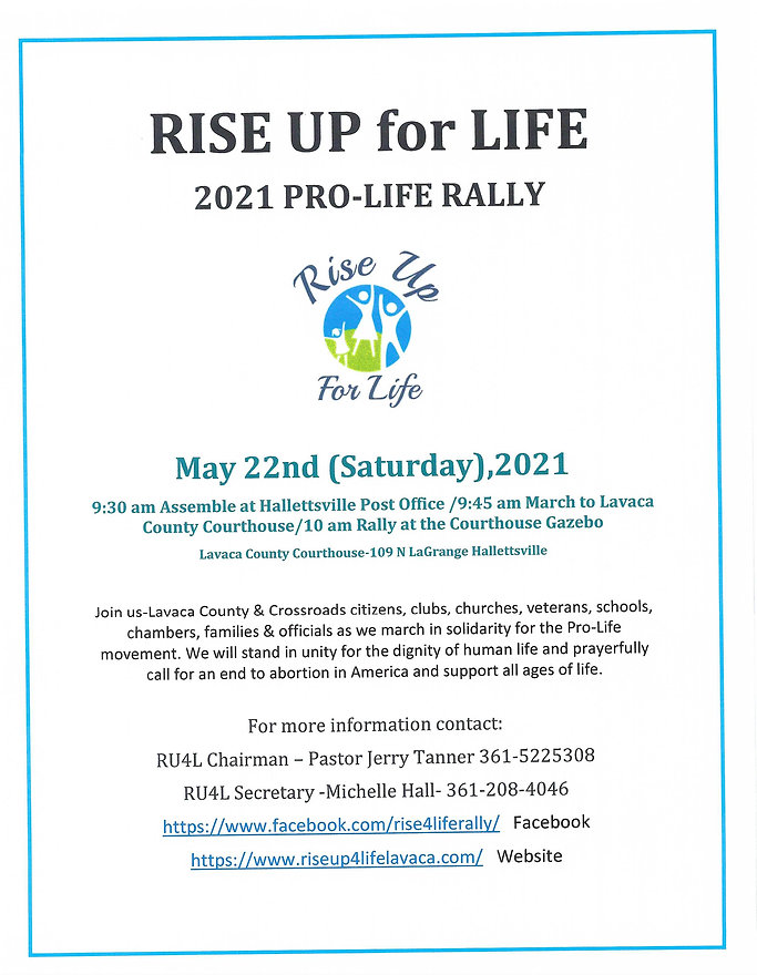2021 LC Rise Up 4 Life flyer updated w a