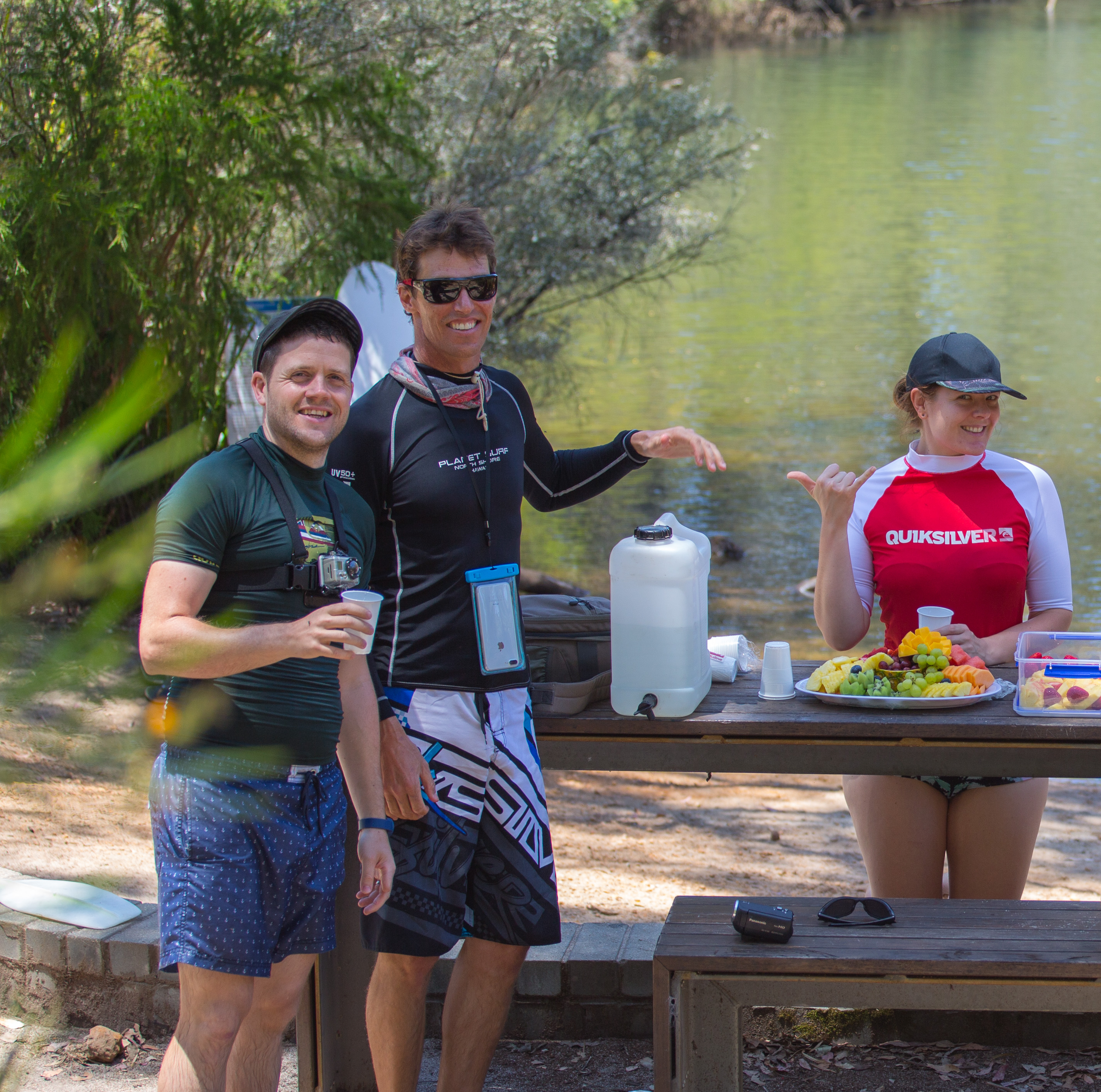 Fruit Picnic on the SUP Tour