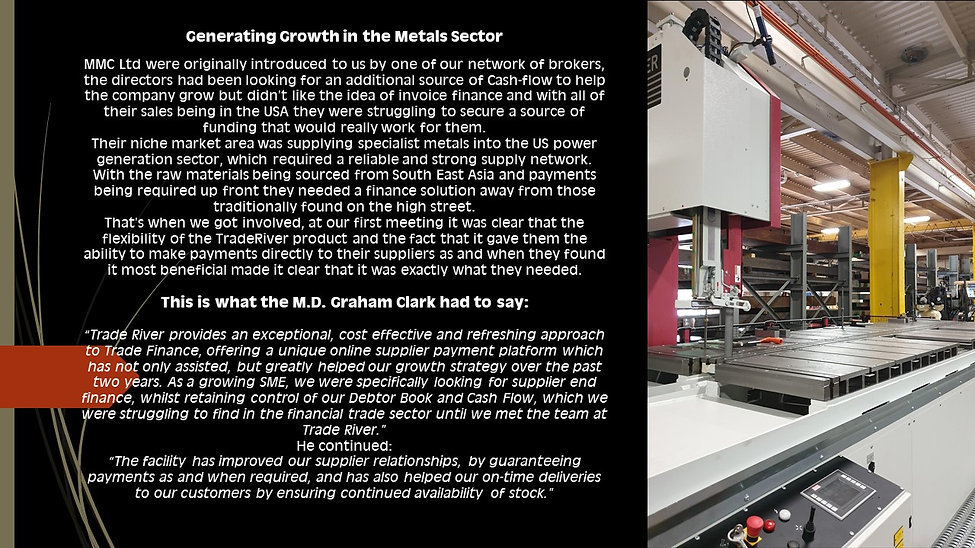 Generating Growth in the Metals Sector 7