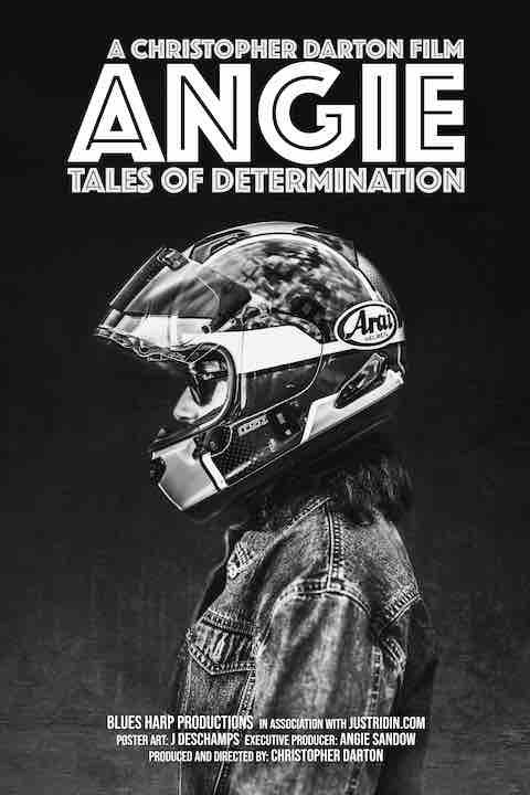 Movie poster for Angie's documentary - ANGIE - TALES OF DETERMINATION
