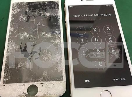 iPhone6 画面割れ&液晶不良