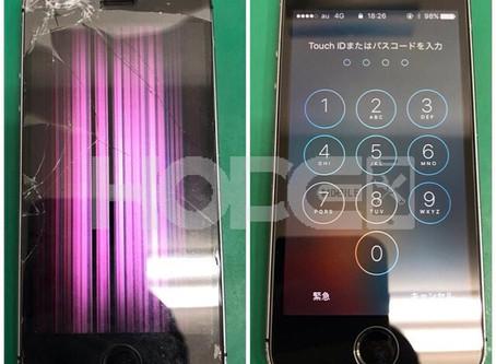iPhone SE  ガラス割れ&液晶不良