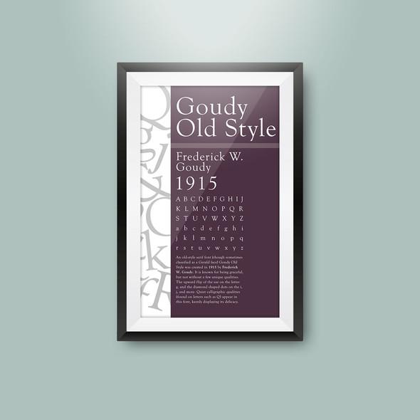 Type specimen poster