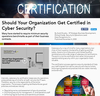CyberSecurity Certified Article