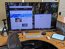 Desk view of a connected workspace