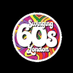 Logo circular badge swinging 60s london
