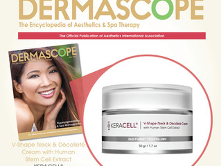 KERACELL® MHCsc Technology for Face, Body & Hair Featured in Dermascope Magazine!