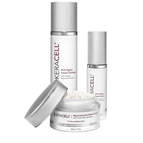 Anti-Aging Facial Cleaner/Facial Serum/Rejuvenating Rich Moisture Cream