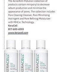 "KERACELL® Anti Acne/Anti-Pollution Line Featured within ""Skin Inc. September Issue"" Pg. 20"