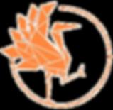Logo Kinem.ch, grue en triangle