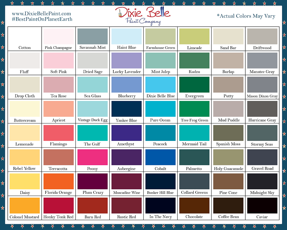 Chalk paint Color Options