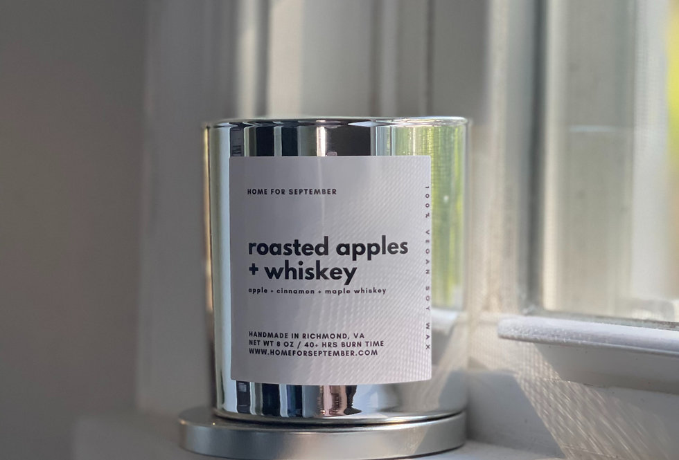 Roasted Apples + Whiskey (Silver Vessel)