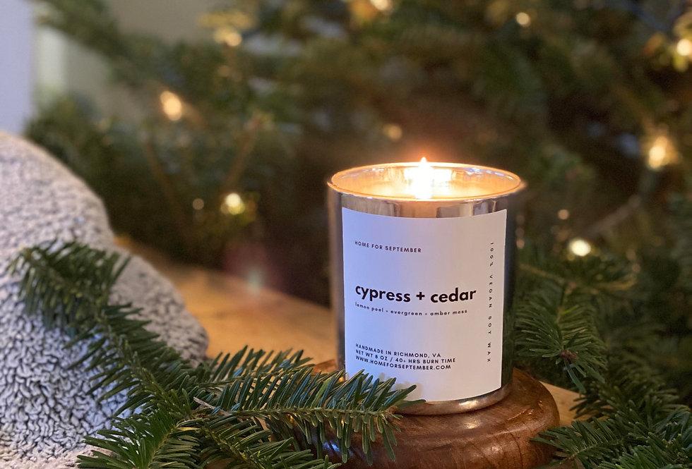 Cypress + Cedar (Silver Vessel)