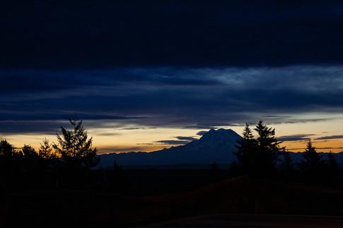 Mt. Rainier Sunrise last day of Summer 2