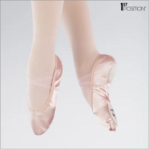 Split Sole - 1st Position Satin Ballet Shoe