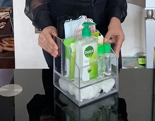 covid station cosmetic organizer organiz