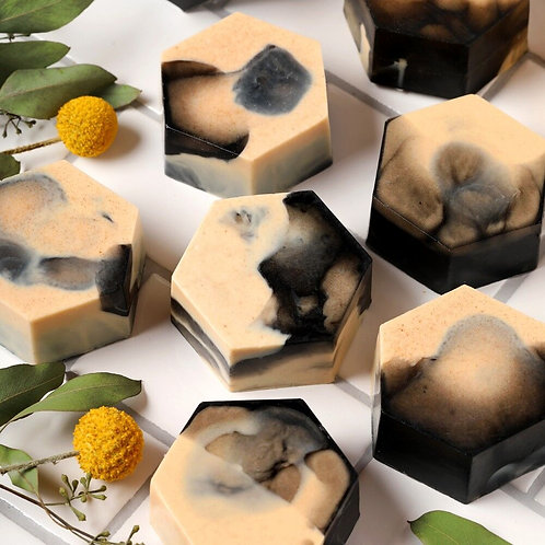 Marbled Lemon Charcoal Bar Soap