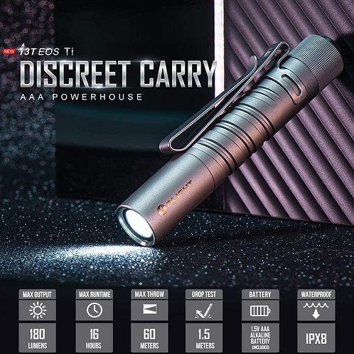 Olight I3T Ti EOS 180 Lumens Dual-Output Slim EDC Flashlight