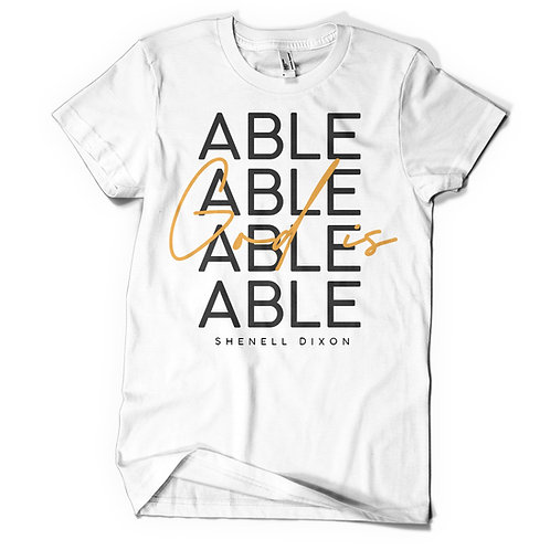 God Is Able  - White