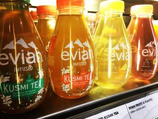 La gamme Evian Fruits & Plantes et Evian infused Kusmi Tea en vente chez Félicie !