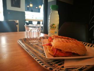 Nouveau sandwich toasté + nouvelle boisson à partir d'aujourd'hui !Pavé poulet poivron curry et Citr