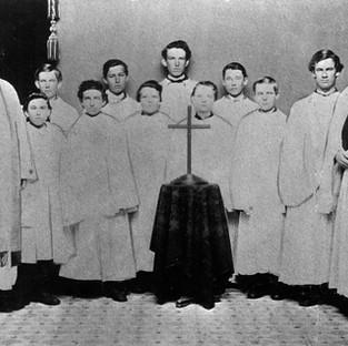 Reverend Dorset with Choir, 1867
