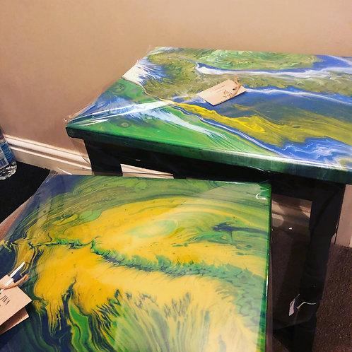 Acrylic Pour Table, Small, home decor