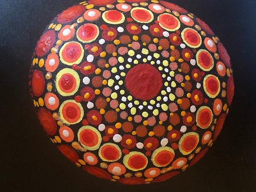 Mandala Stone red yellow circle garden to buy