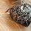 Mandala Ceramic heart black white valentines gift