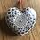 mandala ceramic heart grey beige to hand valentines day