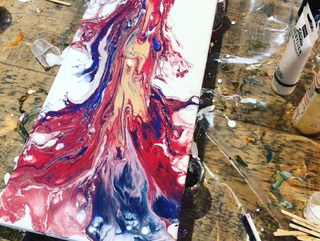 Acrylic Pour Workshop at Bonds Lifestyle