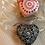 Valentines Day present Mandala Heart ceramic