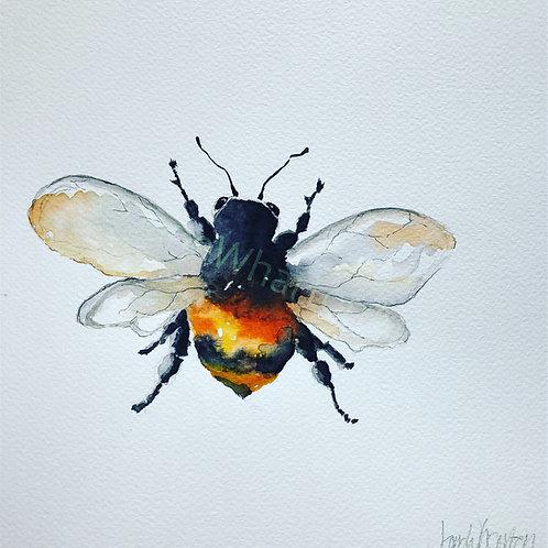 Watercolour Bumble Bee Print buy Etsy