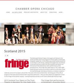 Chamber Opera Chicago Intl Tours