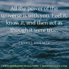 Ernest Holmes Quote