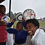 Henny's Kids Donates Soccer Balls to Kids in Africa