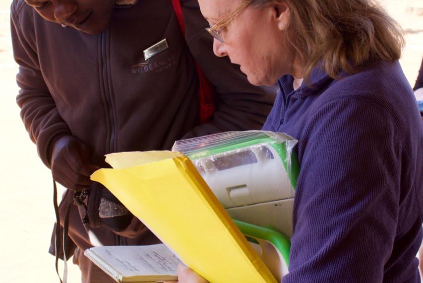 Zambia Twabuka School computer Candyce Stapen and teacher