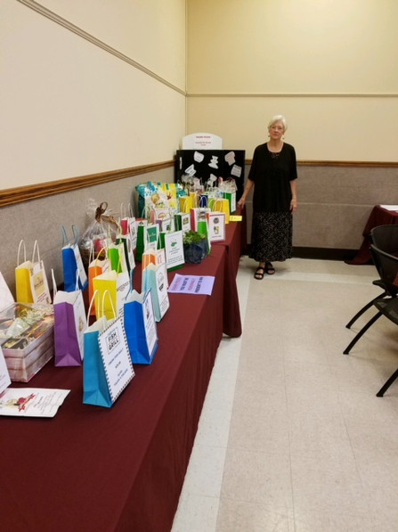 Donnee Prestia oversees the 2018 Raffle items