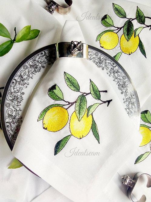 """Салфетка льняная """"Прекрасные лимоны"""""""