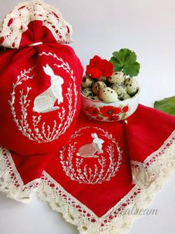 Набор пасхальный _Кролик на красном_